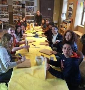 Tvorivá dielňa v Arture s americkými študentmi